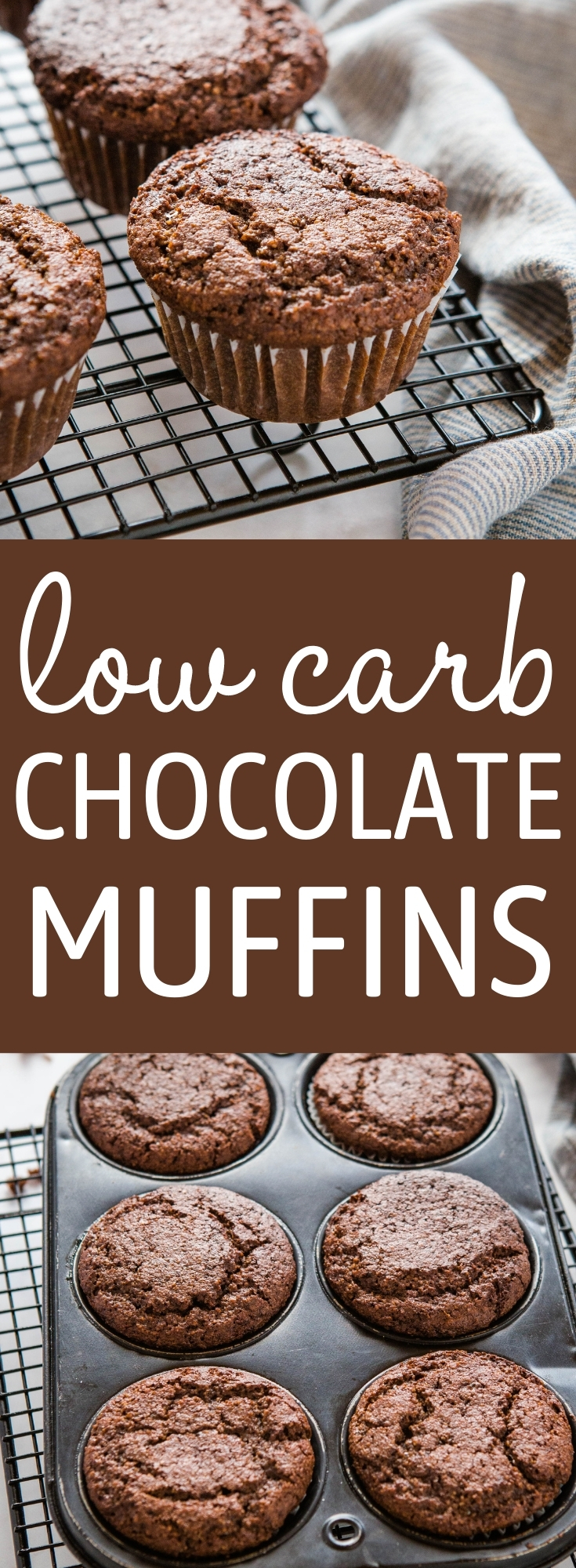 These Keto Chocolate Muffins are fluffy and sweet, with a classic chocolate muffin texture - gluten-free, sugar-free, and only 9 grams of net carbs per muffin! Recipe from thebusybaker.ca! #recipe #keto #ketomuffins #ketobaking #chocolate #muffins #lowcarb #chocolatechip via @busybakerblog