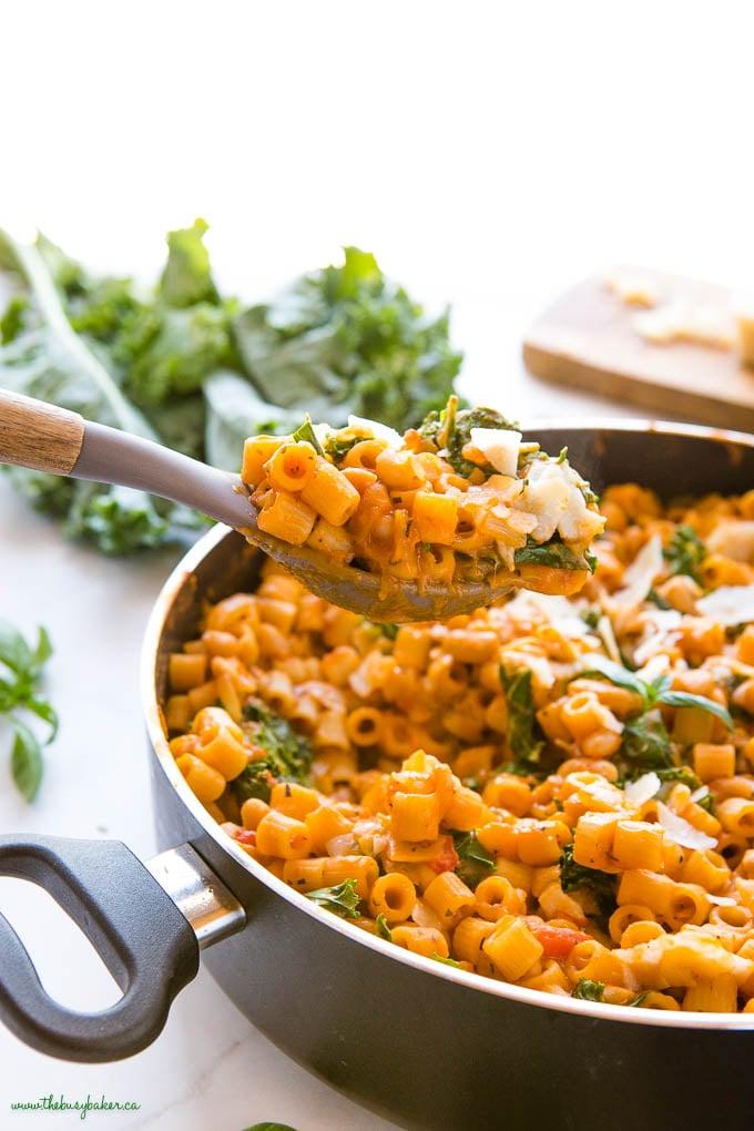 spoonful of one pot pasta e fagioli