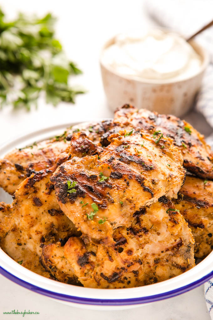 greek yogurt marinated chicken