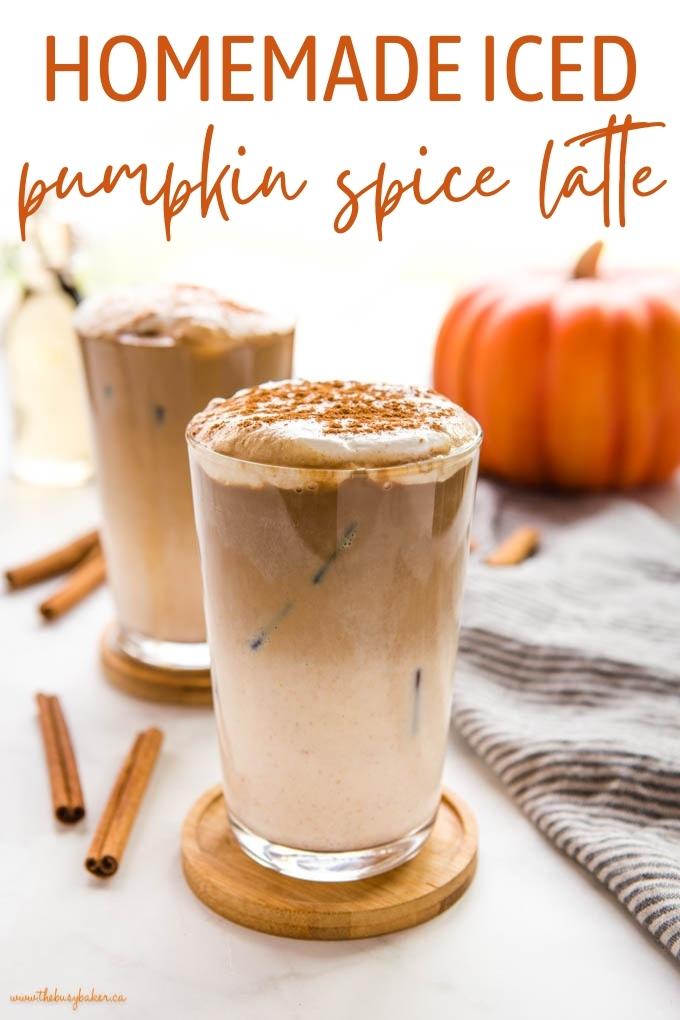 Homemade Pumpkin Spice Iced Latte Recipe