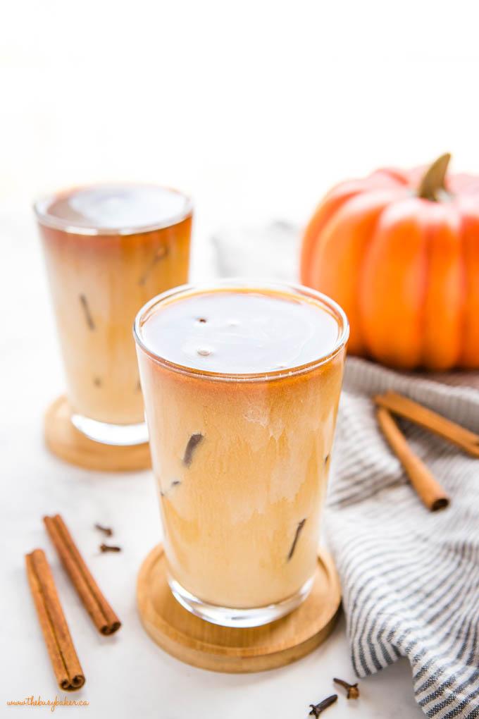 pumpkin cream cold brew coffee drink