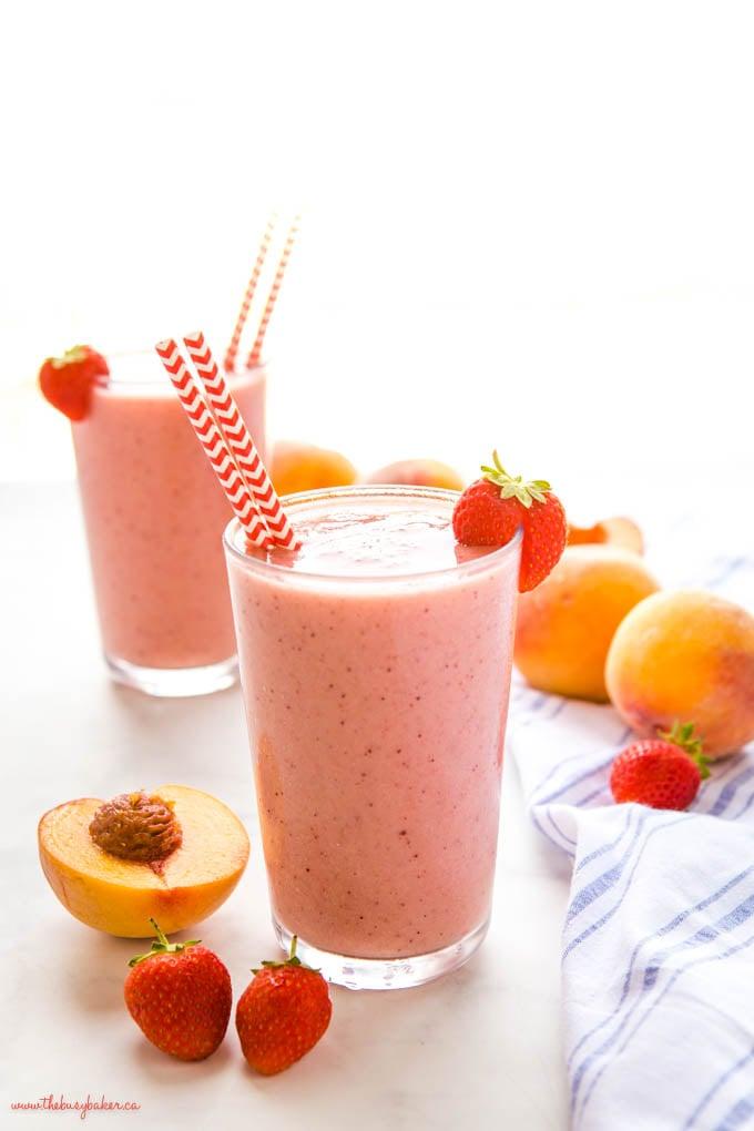 strawberry peach smoothie recipe