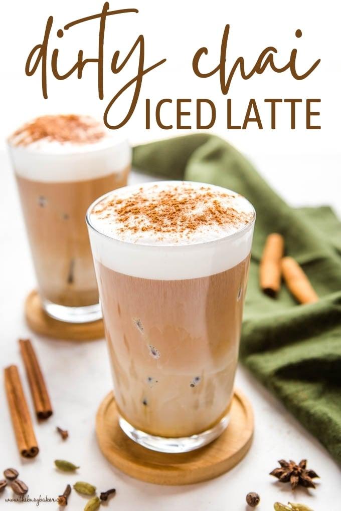 Dirty Chai Latte (Iced) Recipe