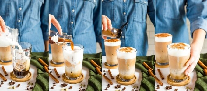 how to make a dirty chai latte photo collage