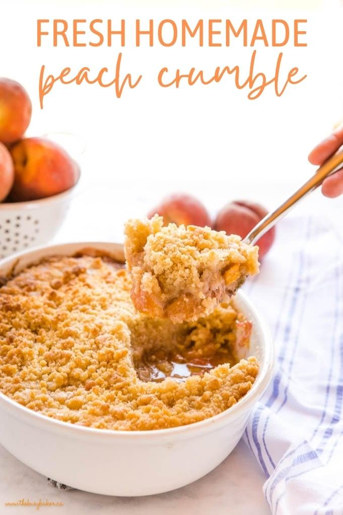 fresh homemade Peach Crumble recipe