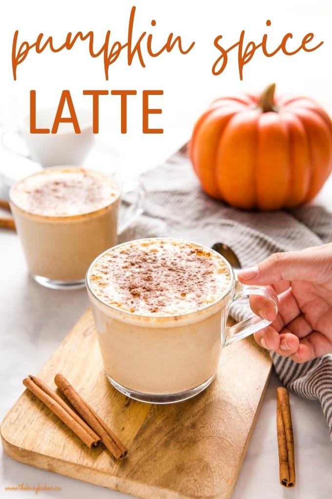 easy homemade pumpkin spice latte recipe