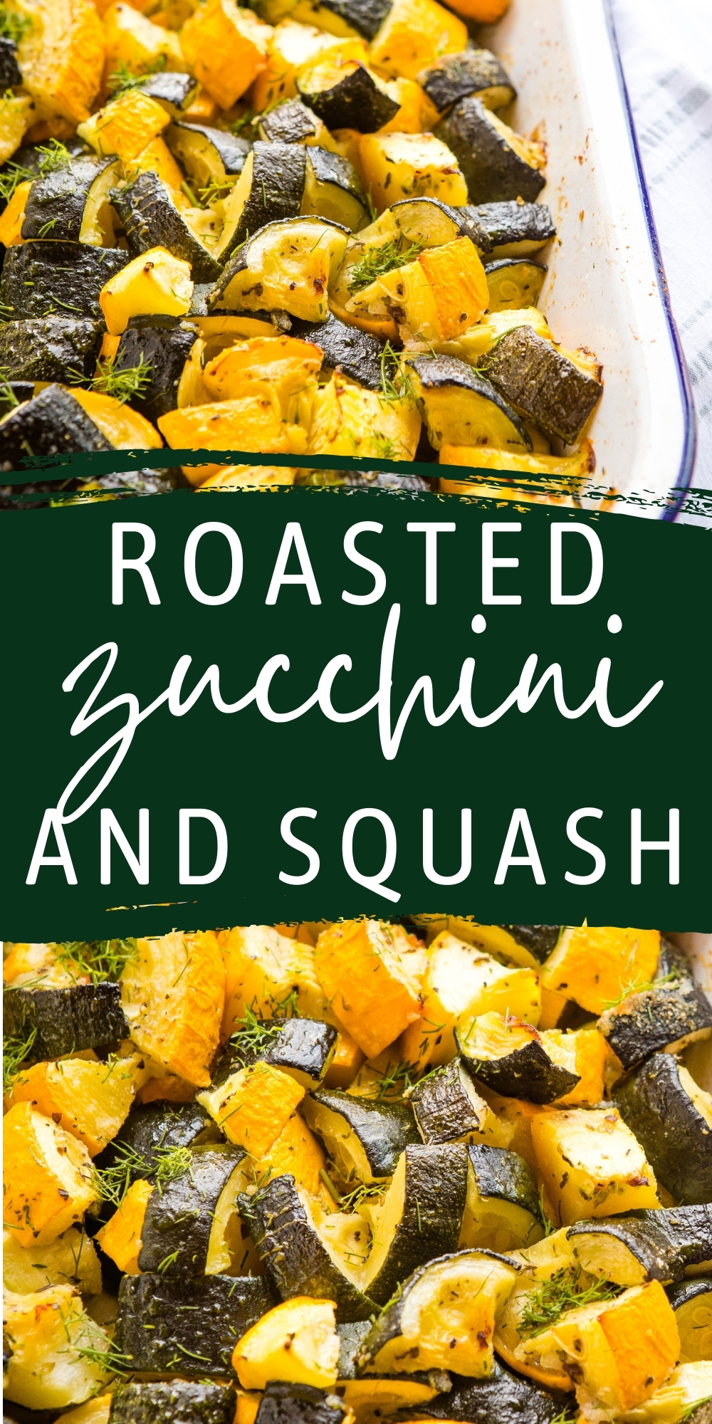 This Roasted Zucchini and Squash recipe is the perfect healthy side dish for fall! Fresh zucchini, summer squash, fresh herbs and basic pantry ingredients - easy to make and delicious! Recipe from thebusybaker.ca! #zucchini #squash #roastedzucchiniandsquash #veggies #sidedish #vegetarian #vegan via @busybakerblog